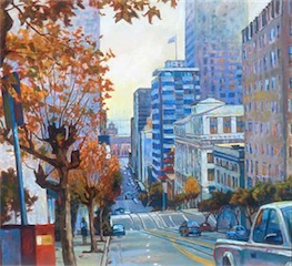 Foggy Morning Market St San Francisco 36X48