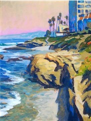BUILDINGS CLIFF SEA LA JOLLA 10x7 sold